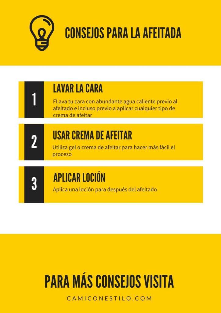 consejos para la afeitada